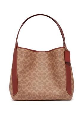 حقيبة هادلي هوبو قنب مزين بشعار الماركة