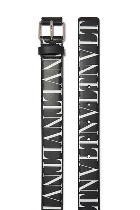حقيبة خصر جلد بشعار VLTN بنقشة تايمز