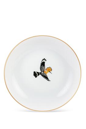 طبق شوربة مزين بطائر الوروار