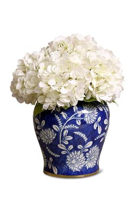 زهور هدرانج صناعية في مزهرية