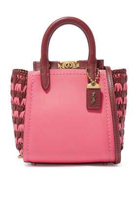 حقيبة تروب جلد بتصميم مجدول