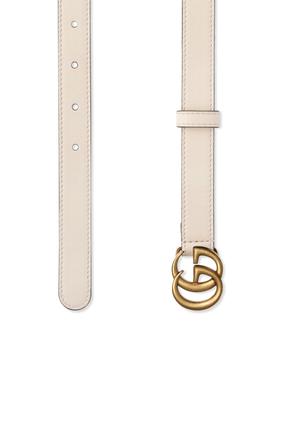 حزام جلد رفيع مزين بحرفي G