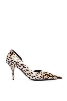 حذاء كلاسيك دورسيه بنقشة جلد الفهد وشعار BB