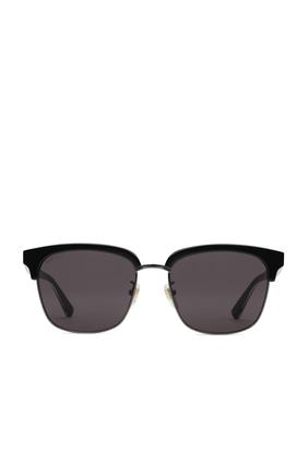 نظارة شمسية بإطار مستطيل معدني