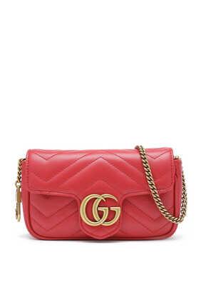 حقيبة مارمونت سوبر ميني جلد بتصميم مبطن وشعار GG
