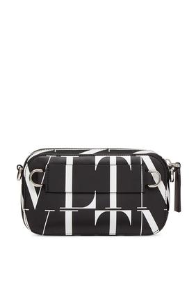 حقيبة فالنتينو غارافاني جلد بشعار VLTN