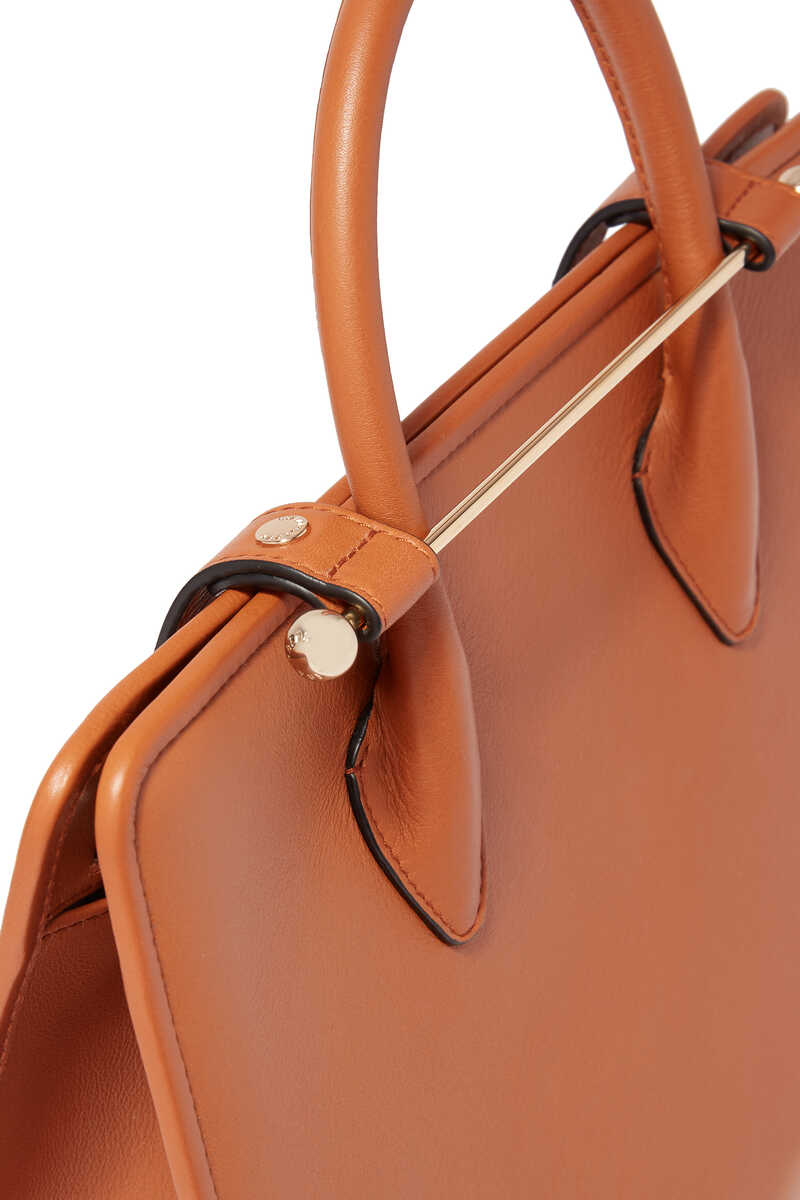 حقيبة يد اليجرو جلد متوسطة الحجم image number 3
