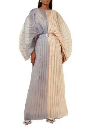 فستان سهرة بليسيه بلونين