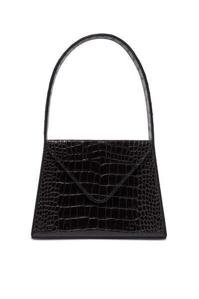 حقيبة ليزا متوسطة بنقشة جلد التمساح