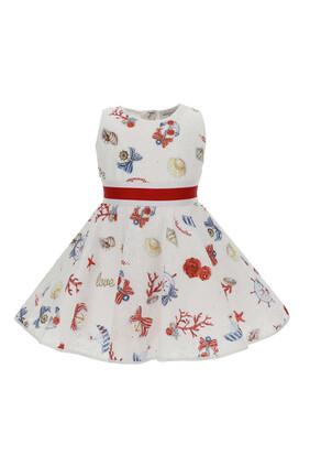 فستان مزين بنقشة تجريدية
