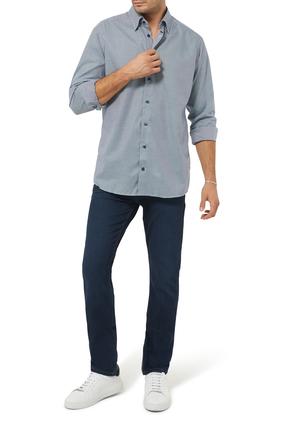 قميص تويل بنسيج مسطح ونقشة مربعات