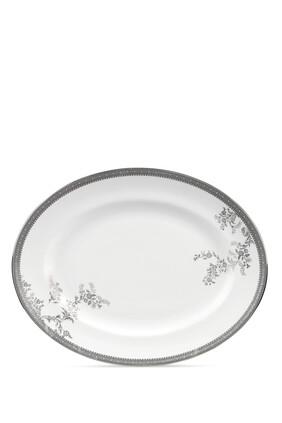 طبق بيضاوي فيرا وانغ ليس بلون بلاتيني 39 سم