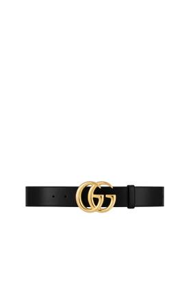 حزام جلد مارمونت بشعار حرفي GG
