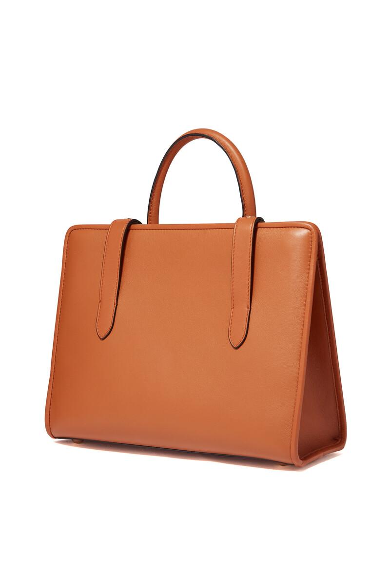 حقيبة يد اليجرو جلد متوسطة الحجم image number 2