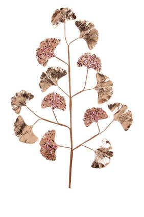 زينة بتصميم ورق وساق الجنكة مرصعة لشجرة الكريسماس