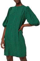 فستان كريب بنقشة مربعات