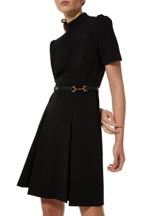 فستان فيسكوز مزين بحلية لجام الحصان