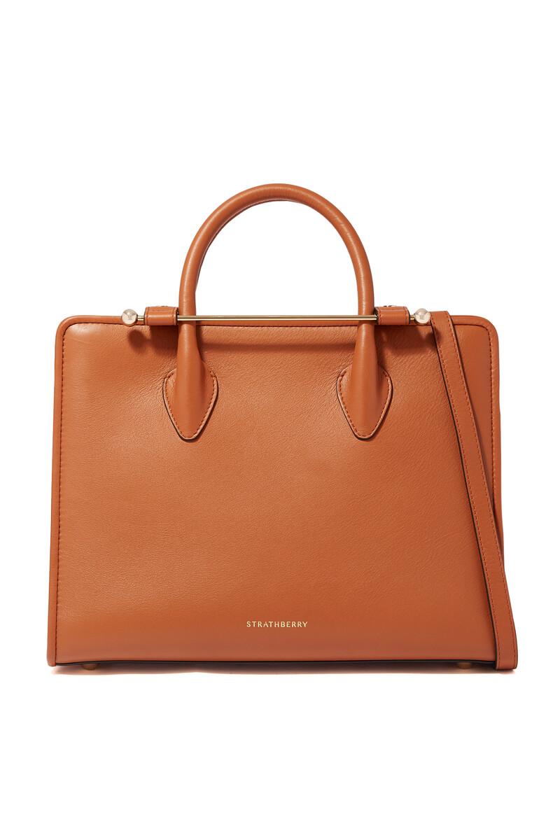 حقيبة يد اليجرو جلد متوسطة الحجم image number 1