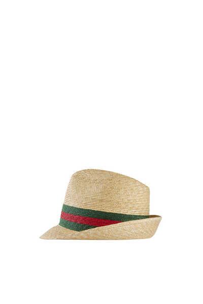 قبعة فيدورا قش منسوج