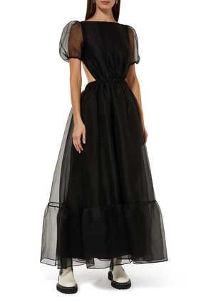 فستان بينيلوبي أورجانزا بأكمام منفوخة