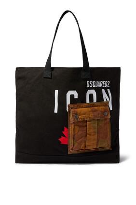 حقيبة يد بشعار Icon