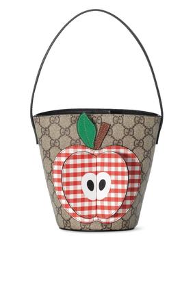حقيبة باكيت مزينة بطبعة تفاحة