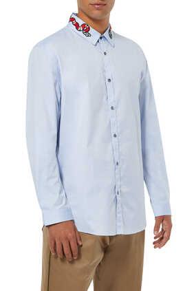 قميص أكسفورد دوك برقعة أفعى