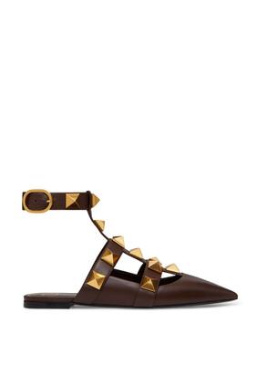 حذاء باليرينا فالنتينو غارافاني رومان مرصع بحلي هرمية