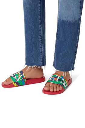 حذاء مفتوح فالنتينو غارافاني كامو 7 مطاط