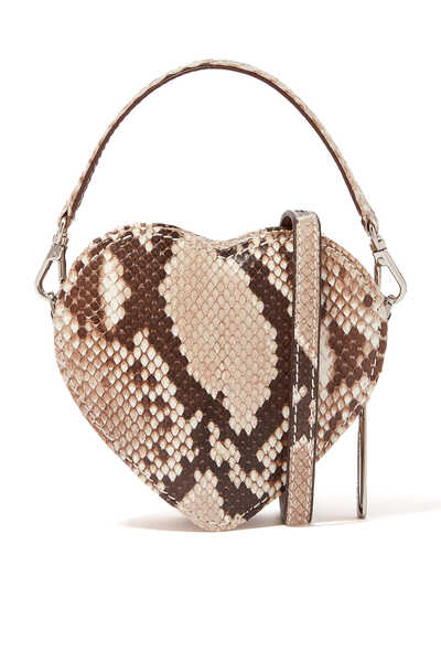 حقيبة كروس بتصميم قلب صغير