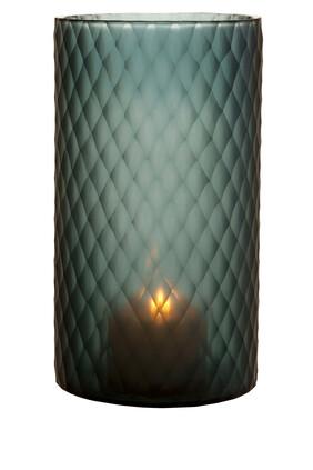 حامل شمعة مورتون زجاج ياقوتي كبير