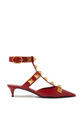 حذاء كلاسيك فالنتينو غارافاني رومان مرصع بحلي هرمية