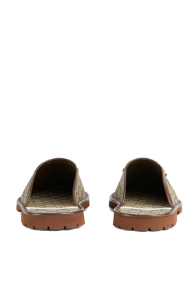 حذاء مفتوح من الخلف قنب بشعار GG