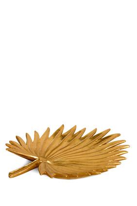 صينية ذهبية بتصميم سعف النخيل