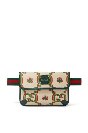 حقيبة خصر جاكار بيج وأخضر من مجموعة غوتشي 100