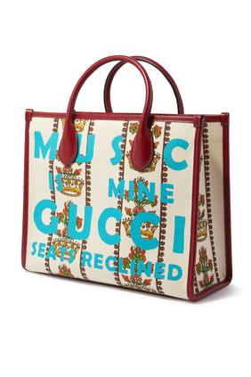 حقيبة يد صغيرة جاكار عاجي من مجموعة غوتشي 100