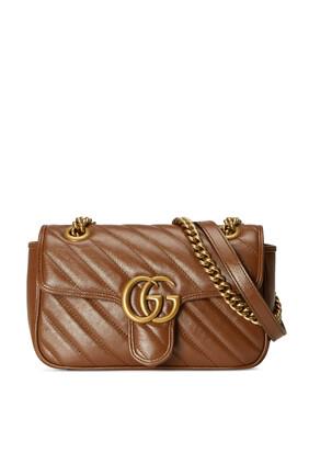 حقيبة كتف مارمونت ميني بتصميم مبطن وشعار GG