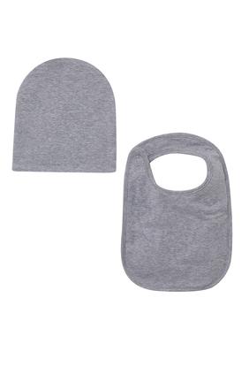طقم صدرية وقبعة مزين بطبعة دب تيدي