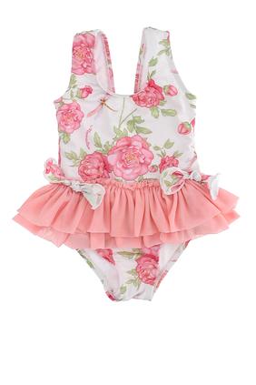 لباس سباحة قطعة واحدة بنقشة زهور