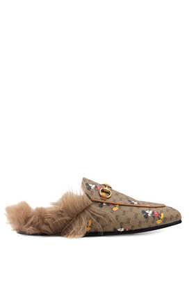 حذاء برينستاون سهل الارتداء بشعار GG ديزني × غوتشي