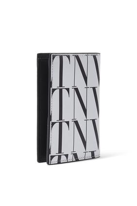 حافظة بطاقات بنقشة تايمز بشعار VLTN