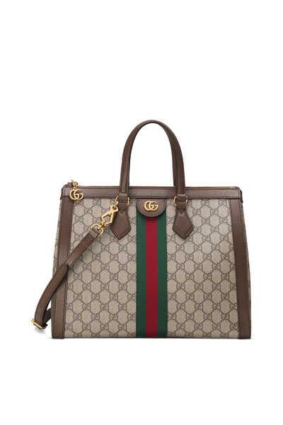 حقيبة كتف أوفيديا متوسطة قنب بشعار GG