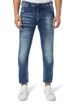 بنطال كرولي رياضي بتصميم جينز