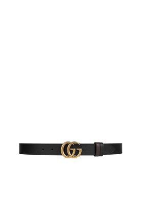 حزام بوجهين وإبزيم على شكل حرفي G