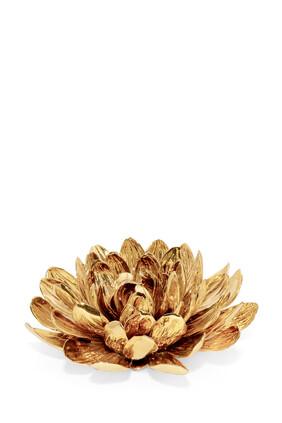 قطعة ديكور داليا بورسلين بلون ذهبي