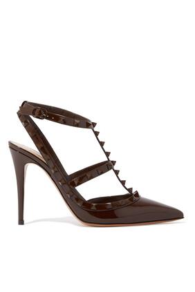 حذاء كلاسيك جلد بحلي هرمية