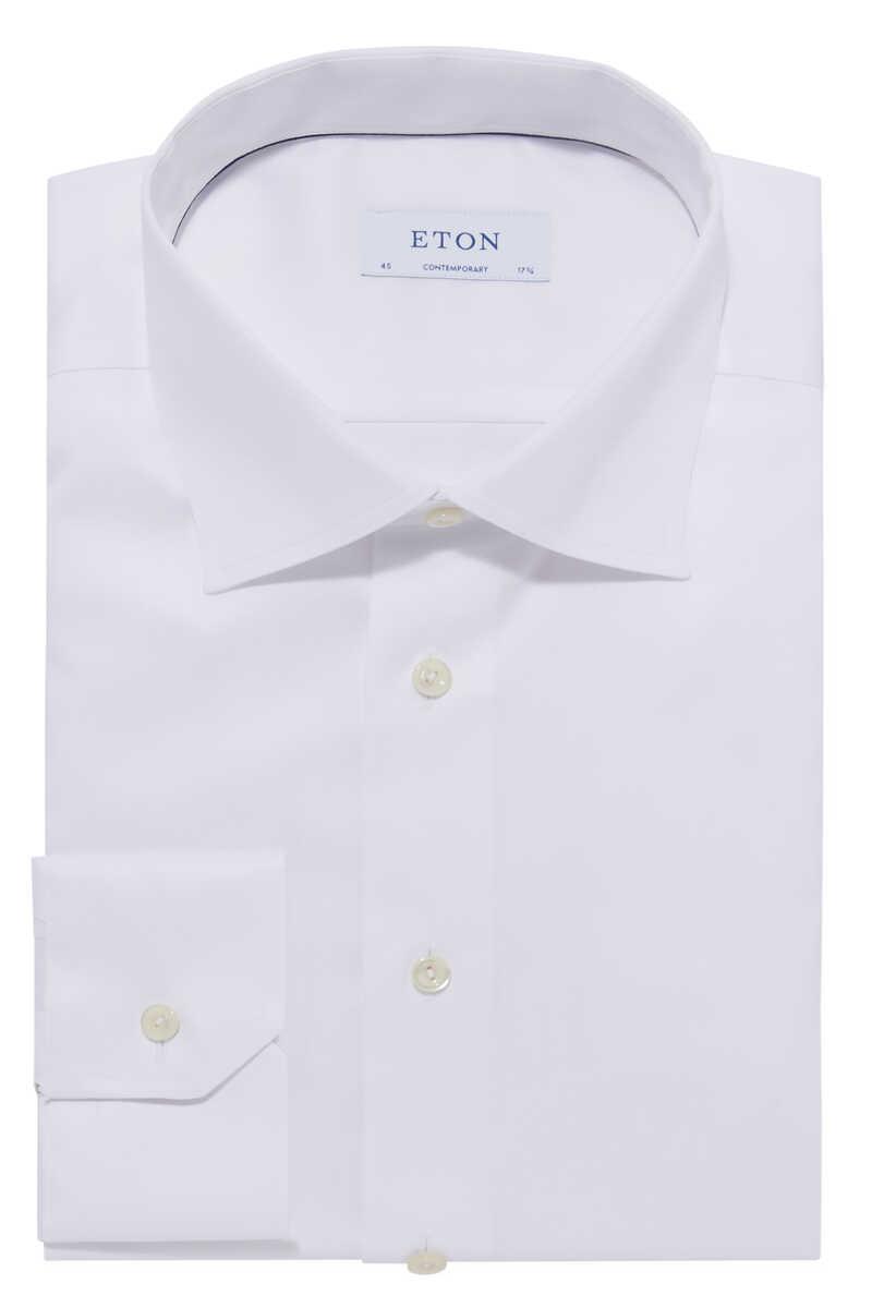 قميص بوبلين بأكمام طويلة image number 1