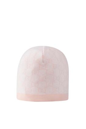 قبعة صوف بنقشة حرفي GG
