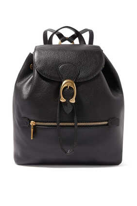 حقيبة ظهر إيفي جلد بارز الملمس