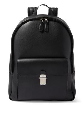 حقيبة ظهر جلد بارز الملمس